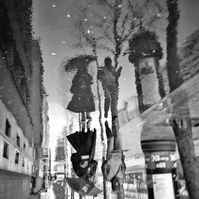 Reflet de pluie Boulevard Brune